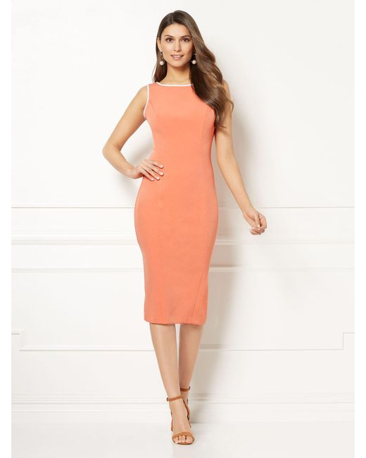 New York & Company - Orange Eva Mendes Collection - Petite Sonja Sheath Dress - Lyst