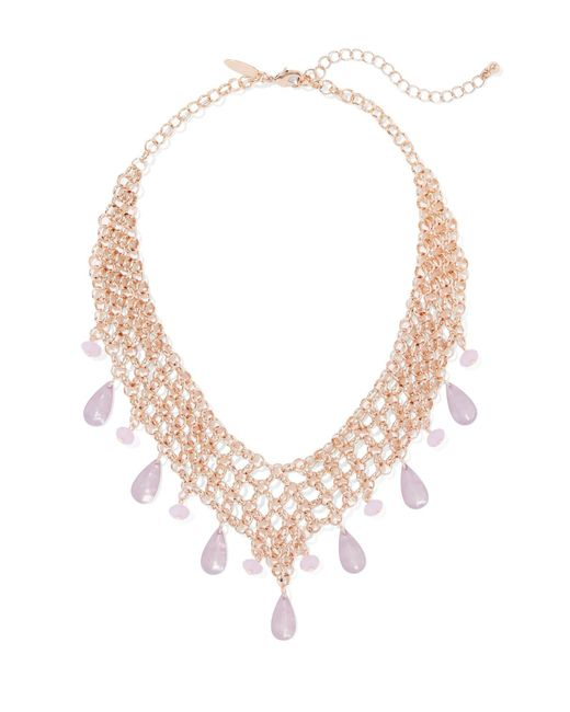 New York & Company - Multicolor Goldtone Chain-link Bib Necklace - Lyst
