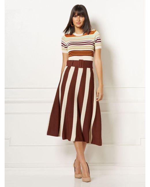 New York & Company Multicolor Myra Sweater Dress - Eva Mendes Collection