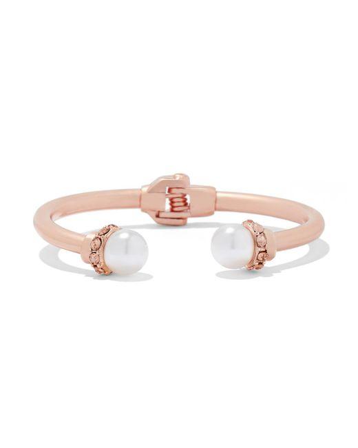 New York & Company - Pink Faux-pearl Cuff Bracelet - Lyst