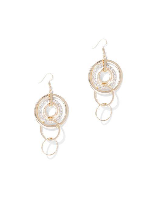 New York & Company - Metallic Goldtone Circular Drop Earring - Lyst