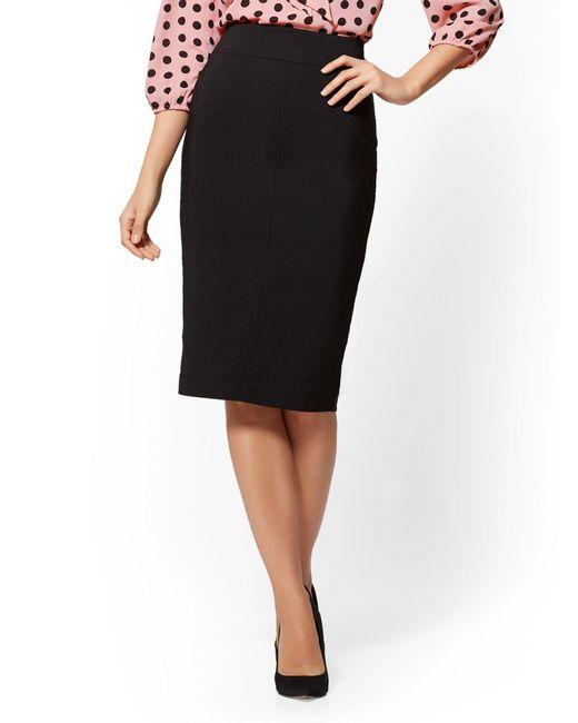 New York & Company - Black Seamed Pencil Skirt - All-season Stretch - 7th Avenue - Lyst
