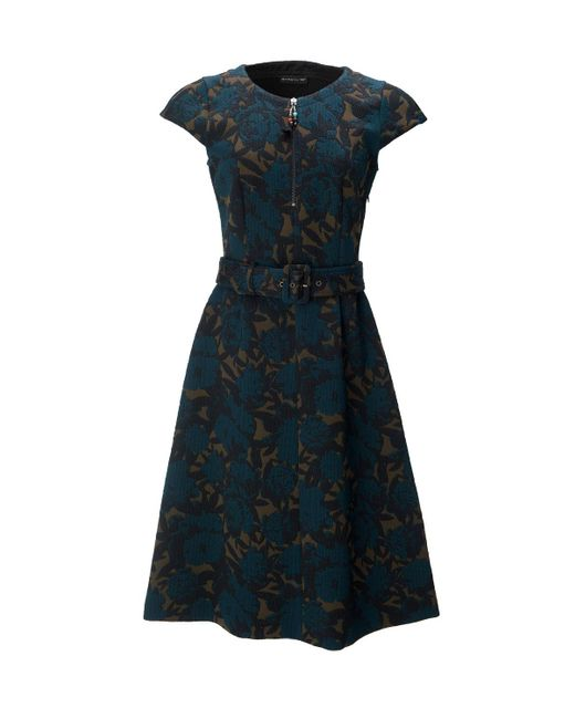 Etro | Blue Printed Belted Dress | Lyst