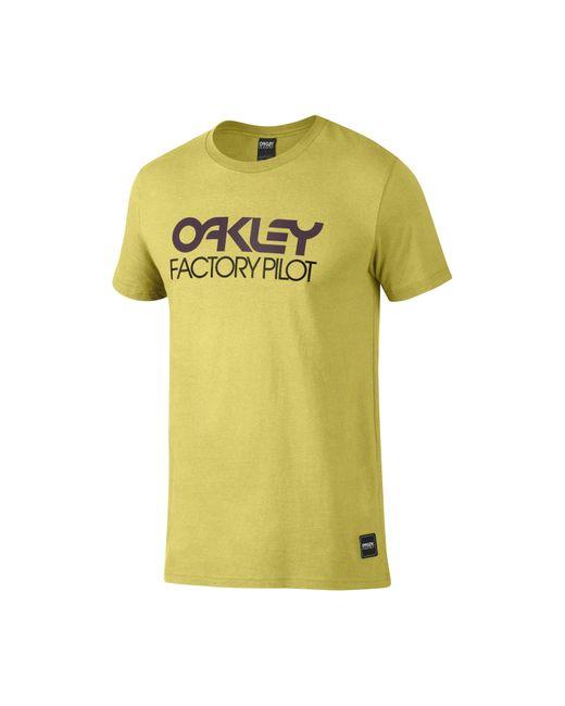 Oakley - Yellow Factory Pilot Logo Tee for Men - Lyst