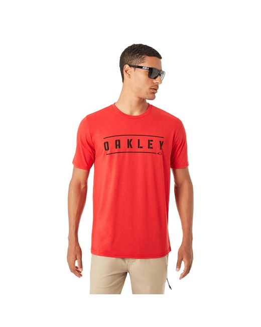 Oakley - Red O-double Stack Tee for Men - Lyst