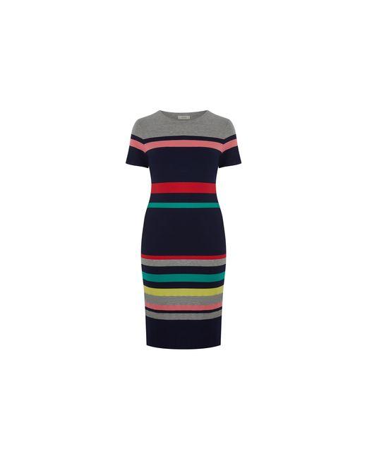 a2e7021218 ... Oasis - Blue Curve Stripe Tube Dress  - Lyst ...