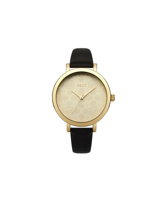 Oasis - Metallic Etched Pattern Watch - Lyst