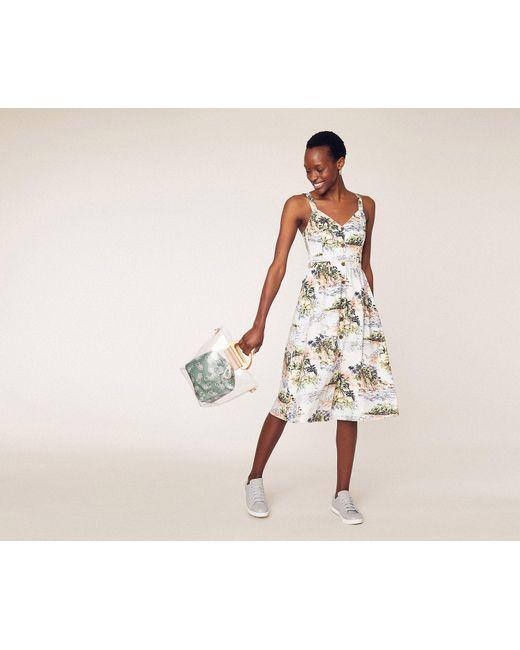 b29ee3840812 Oasis - Multicolor Scenic Palm Midi Dress - Lyst ...