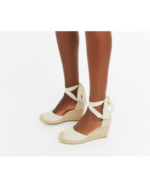 fa2369b33d0bbb Oasis - Natural Canvas Espadrille - Lyst ...