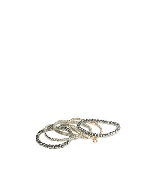 Oasis | Gray 5pk Beaded Bracelet | Lyst