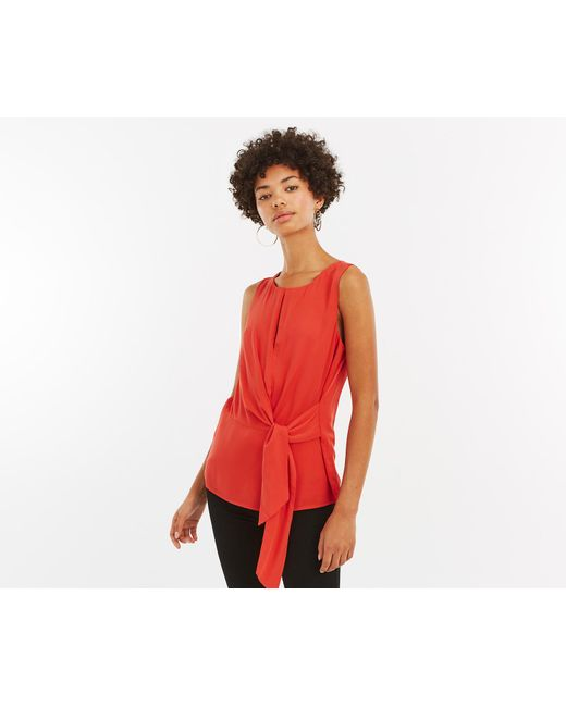 Oasis - Multicolor Keyhole Tie Shell Top - Lyst