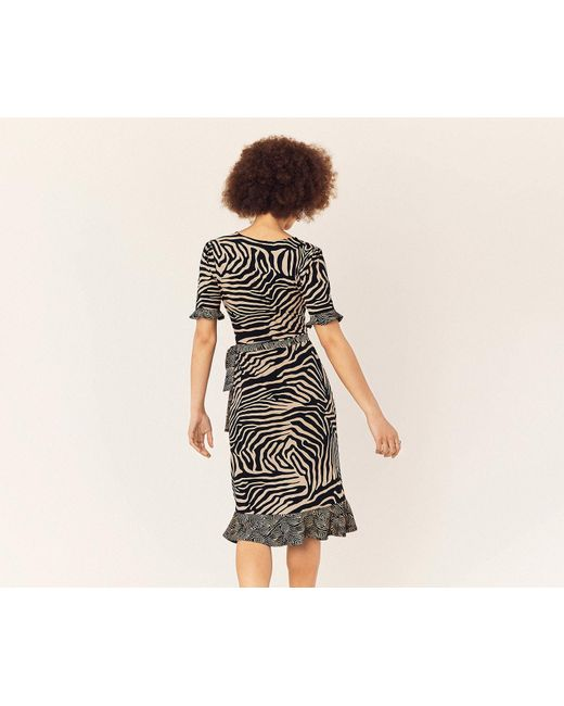 bee8a85a ... Oasis - Multicolor Tiger Patched Wrap Dress - Lyst ...