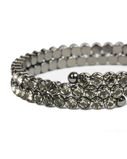 Oasis | Gray Sparkle Coil Bracelet | Lyst