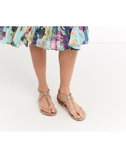 Oasis | Metallic Taffy Metal Detail Sandals | Lyst