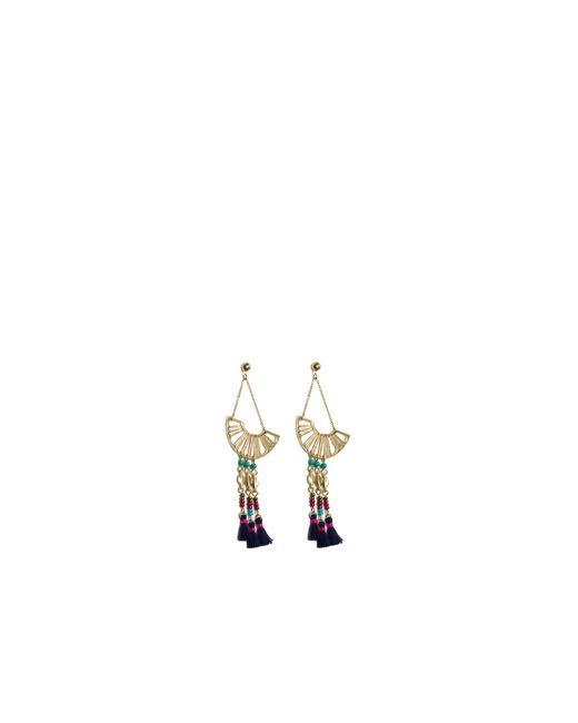 Oasis | Metallic Beaded Fan Drop Earrings | Lyst