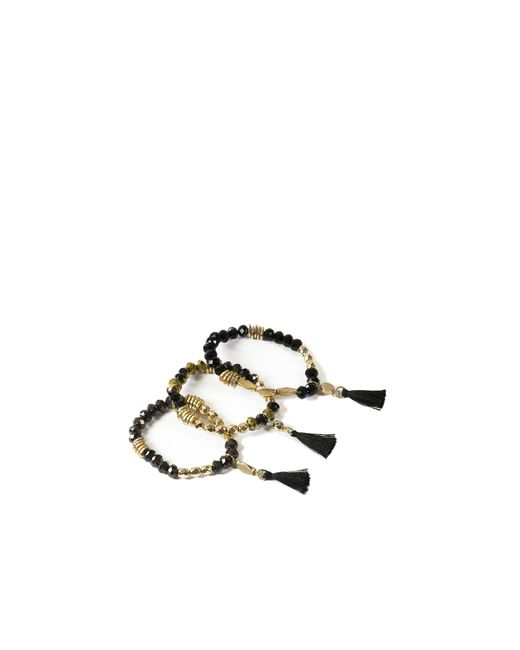 Oasis | Black Jet 3 Pack Bracelet Set | Lyst