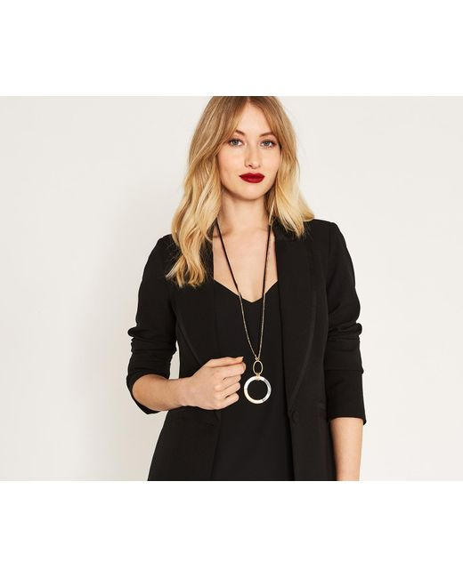 Oasis - Metallic Monochrome Pendant Necklace - Lyst