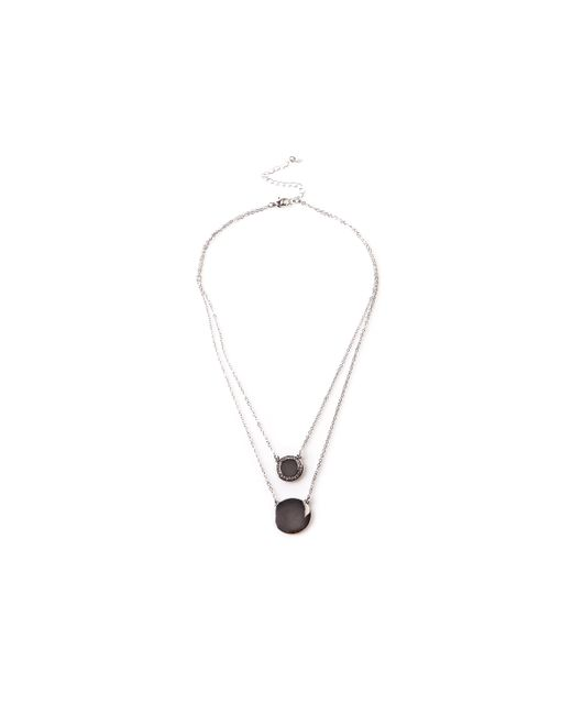 Oasis - Metallic Double Layer Disc Necklace - Lyst