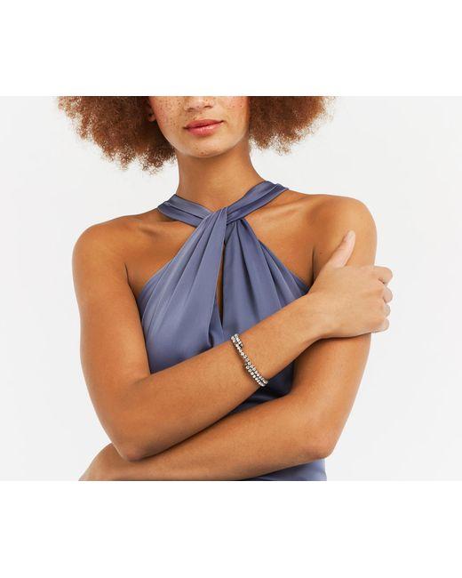 Oasis - Gray Sparkle Wrap Bracelet - Lyst