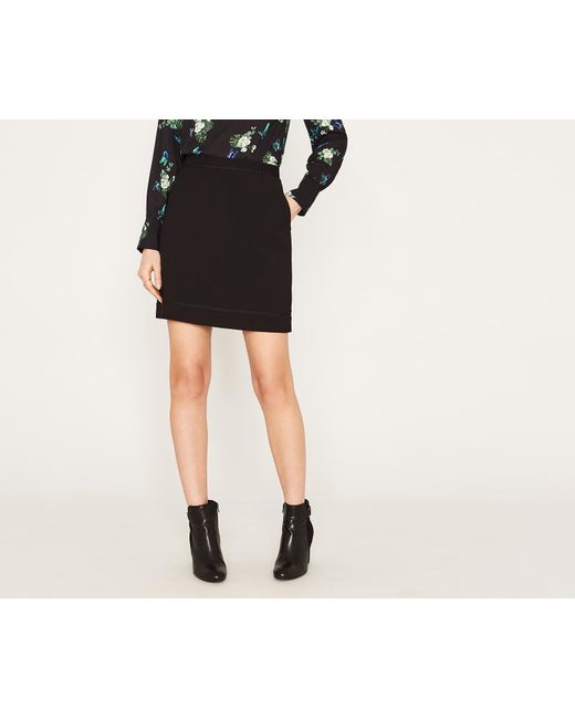 Oasis | Black Circle Trim Mini Skirt | Lyst