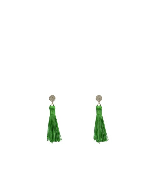 Oasis | Green Emerald Tassel Earrings | Lyst