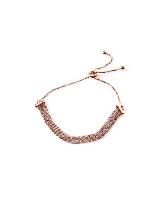 Oasis - Metallic Crystal Chain Slider Bracelet - Lyst