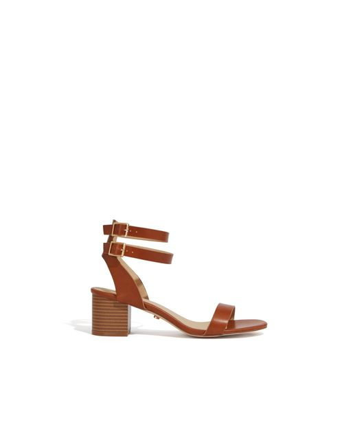 59bf1bfa622 ... Oasis - Brown Maya Block Heel Sandals - Lyst ...