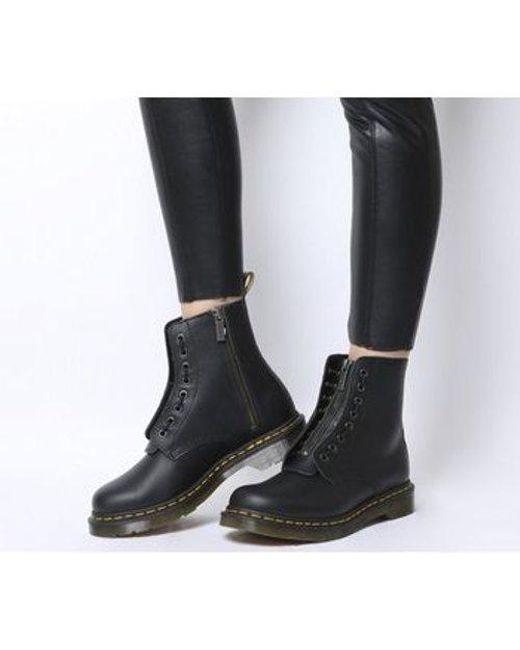 Women's Black 1460 Pascal Front Zip