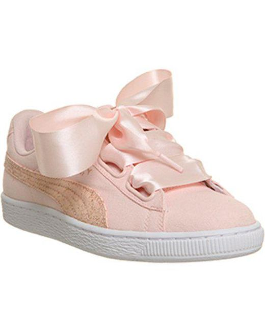 Puma Basket Heart Canvas Low-Top Sneakers