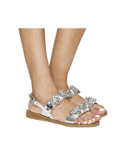 Office | Metallic Syrup Sling Back Sandals | Lyst