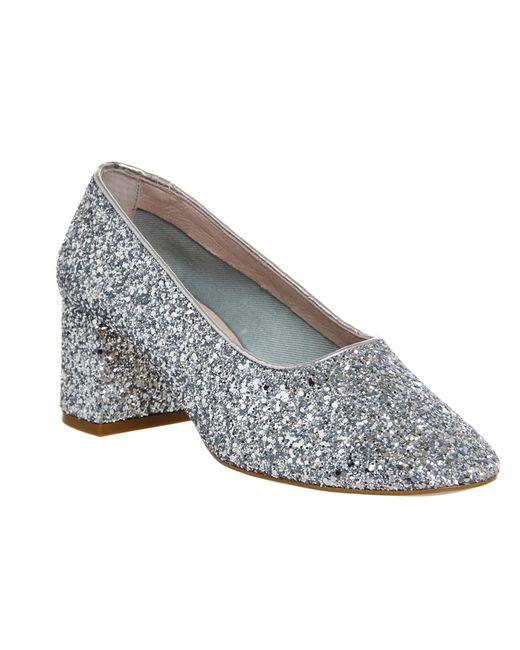 Office | Metallic Mia Ballet Block Heels | Lyst