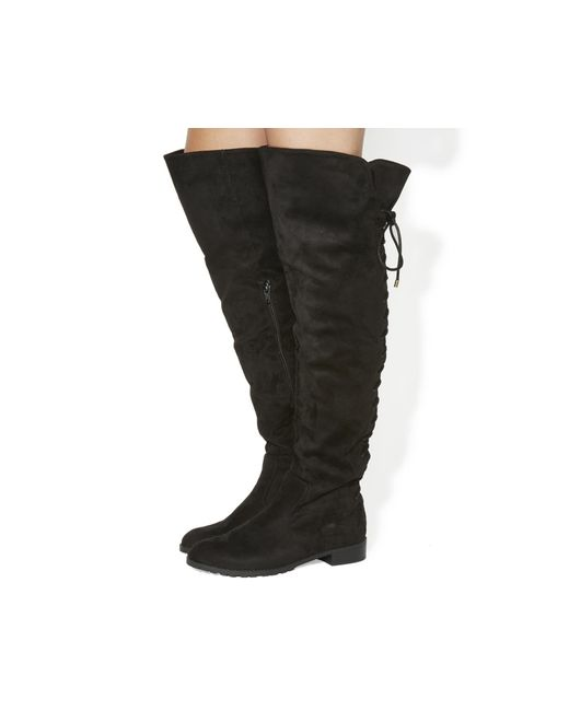 Office | Black Knockout Over The Knee Boots | Lyst