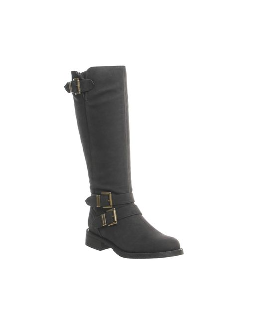 Office | Black Kiddo Buckle Biker Boots | Lyst