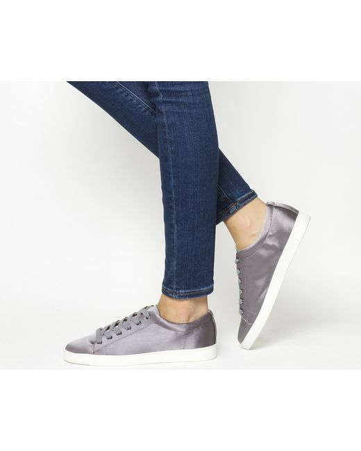 Office | Gray Penelope Lace Up Trainers | Lyst