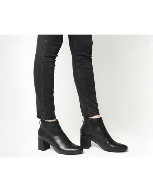 Office   Black Africa Block Heel Boots   Lyst