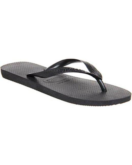 66759850559e Lyst - Havaianas Top Flip Flop (m) in Black for Men