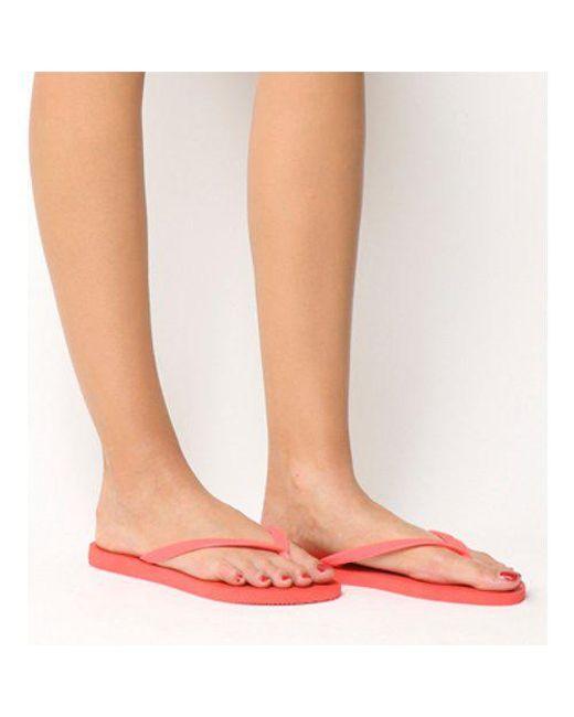 Havaianas - Red Slim Flip Flop - Lyst