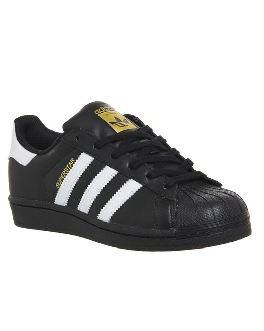 lyst adidas superstar 1 in black for men save 9. Black Bedroom Furniture Sets. Home Design Ideas