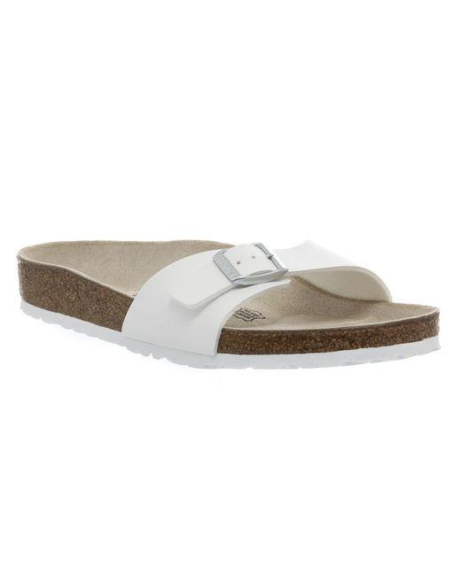 Birkenstock | White Madrid 1 Bar Mule Sandal  | Lyst
