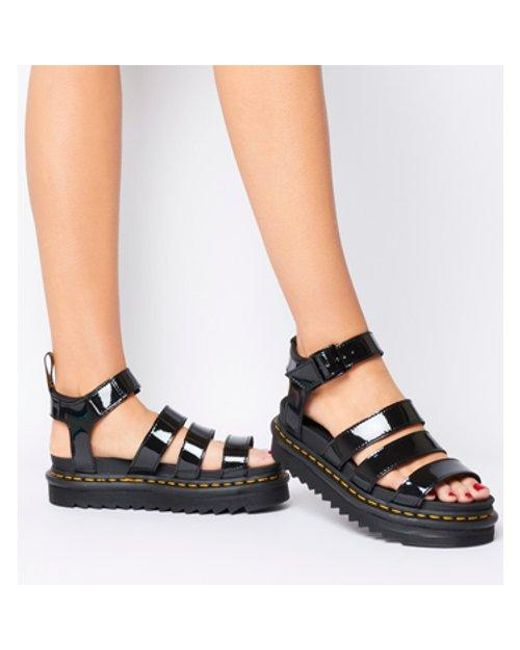 df9adf106ba Dr. Martens Blaire Sandal in Black - Lyst