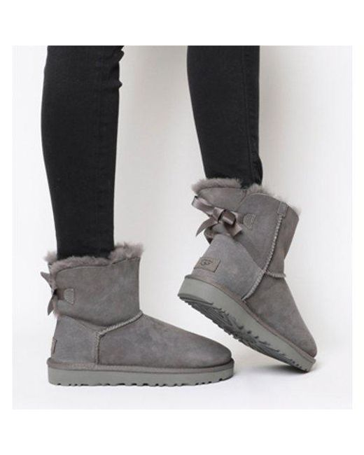 UGG Mini Bailey Bow in Gray - Lyst ef8144640a9