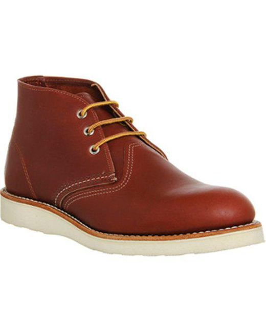 For Sale Mens Redwing Work Chukka Boot Red Leather Aw15 Boots