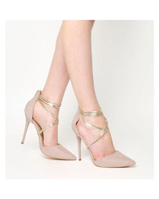 e8124d7e9906 Office High Society Point Court Heels in Natural - Lyst