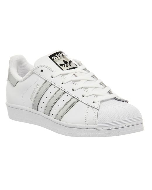 Adidas White And Sage Green Shell Shoes