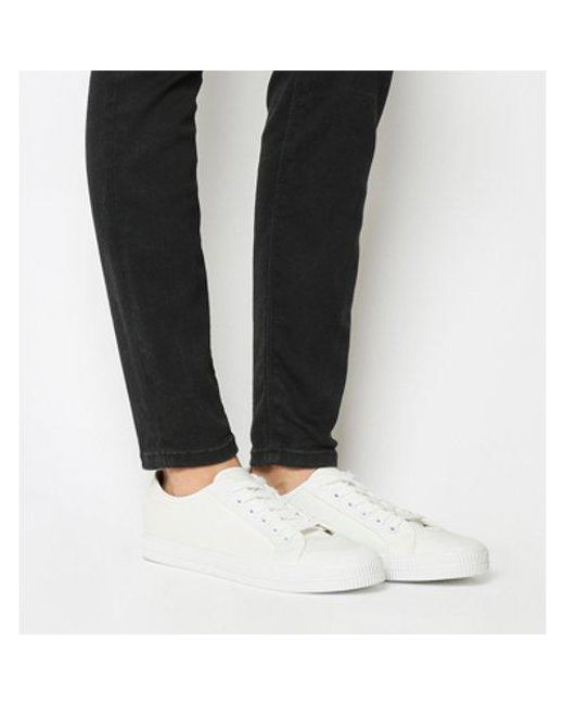 Office - White Franklin Toe Cap Lace Up Trainer - Lyst