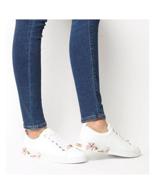 Lyst In White Kelleip Sneaker Ted Baker Lq4Sc35jAR