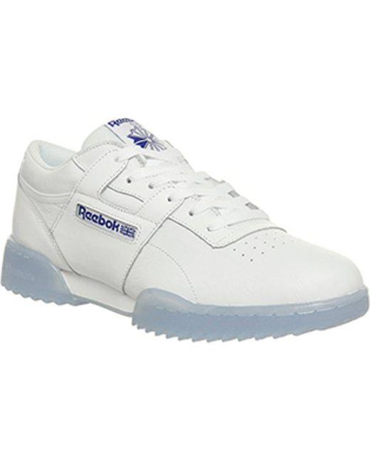 c06f3c54b5773 Reebok Workout Clean Ripple in White for Men - Lyst