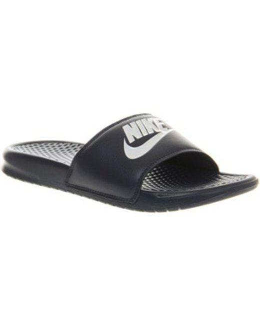 865dfe379 Nike Benassi Slide L in Blue for Men - Lyst