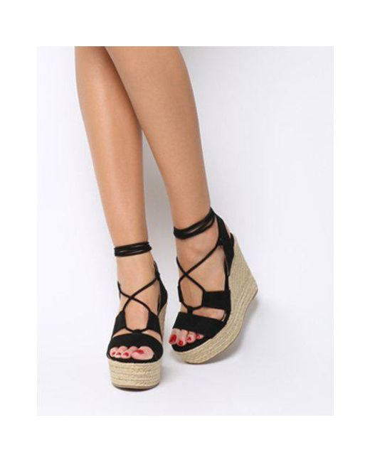 9a8c50e999a0 Lyst - Office Hula Hula Ghillie Espadrille Wedge in Black