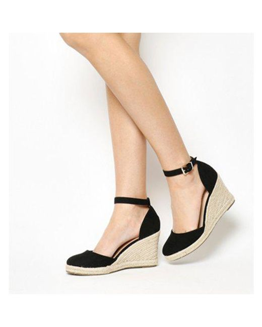 5ed039620f6a Lyst - Office Marsha Closed Toe Espadrille Wedge in Black
